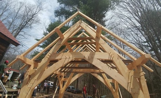 Cruck frame - one of our favourite structures to cut.